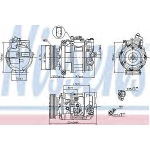 NISSENS 89091 компрессор кондиционера VW-TOUAREG  02- (Nissens)