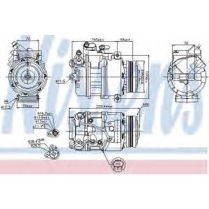 NISSENS 89116 Компресор кондиціонера