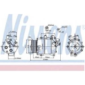 Компрессор, кондиционер 89245 nissens - HONDA CR-V III вездеход закрытый 2.4 i-VTEC