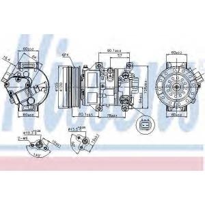 NISSENS 89345 AC compressor