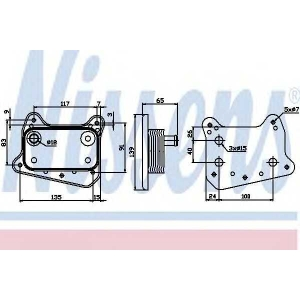 NISSENS 90581 Oil radiator
