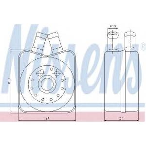 NISSENS 90607 Радіатор масляний