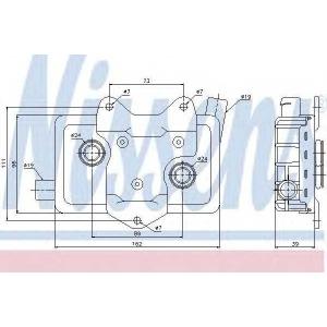 NISSENS 90618 масляный радиатор, двигательное масло