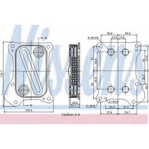 NISSENS 90700 Pадиатор масляный FIAT  DOBLO (119, 223) (01-)  1.3 MJTD (пр-во Nissens)