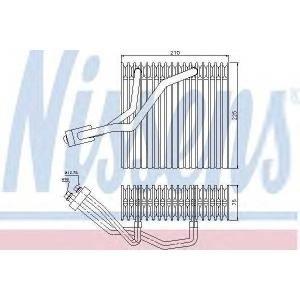 Испаритель, кондиционер 92176 nissens - AUDI A3 (8L1) Наклонная задняя часть 1.6