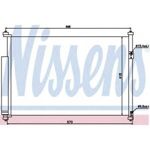 Конденсатор, кондиционер 940012 nissens - SUZUKI GRAND VITARA II (JT) вездеход закрытый 1.6 Allrad