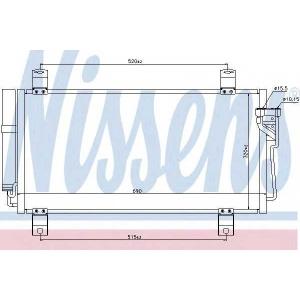940032 nissens Конденсатор, кондиционер MAZDA 6 Наклонная задняя часть 2.2 MZR-CD
