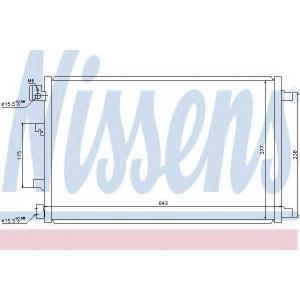 Конденсатор, кондиционер 940039 nissens - NISSAN QASHQAI / QASHQAI +2 (J10, JJ10) вездеход закрытый 2.0