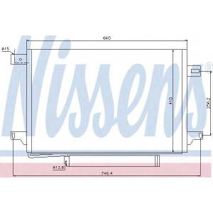 NISSENS 940054 Конденсатор кондиционера VW (пр-во Nissens)