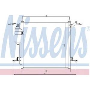 Конденсатор, кондиционер 940068 nissens - MITSUBISHI L 200 (KB_T, KA_T) пикап 2.5 DI-D 4x4 (KA4TXCN)
