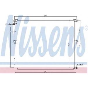 Конденсатор, кондиционер 940106 nissens - TOYOTA LAND CRUISER (KDJ12_, GRJ12_) вездеход закрытый 4.0 (GRJ12)