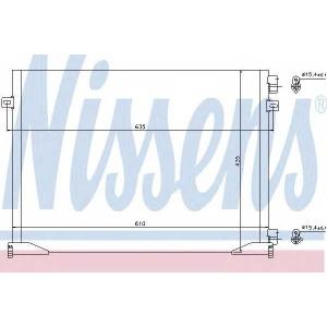 NISSENS 940109 Конденсатор кондиционера OPEL, RENAULT (пр-во Nissens)
