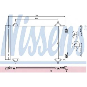 Конденсатор, кондиционер 940111 nissens - FIAT SCUDO фургон (270_) фургон 2.0 D Multijet