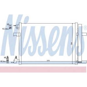 Конденсатор, кондиционер 940134 nissens - OPEL ASTRA Sports Tourer (J) универсал 1.4