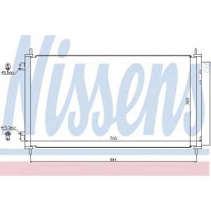 Конденсатор, кондиционер 940140 nissens - HONDA CR-V III вездеход закрытый 2.2 i-CTDi