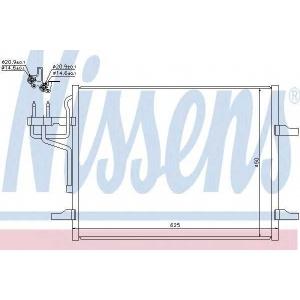 Конденсатор, кондиционер 940144 nissens - FORD KUGA вездеход закрытый 2.5