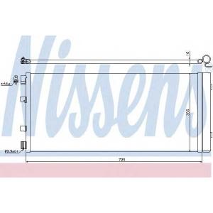 NISSENS 940158 Конденсатор, кондиционер