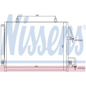 Конденсатор, кондиционер 940166 nissens - MITSUBISHI PAJERO IV (V80, V90) вездеход закрытый 3.2 DI-D 4x4