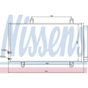 Конденсатор, кондиционер 940194 nissens - TOYOTA CAMRY седан (_XV4_) седан 3.5
