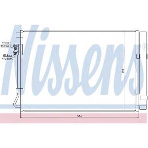 940243 nissens Конденсатор, кондиционер KIA RIO седан 1.6 CVVT
