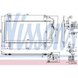NISSENS 940352 Радиатор кондиционера