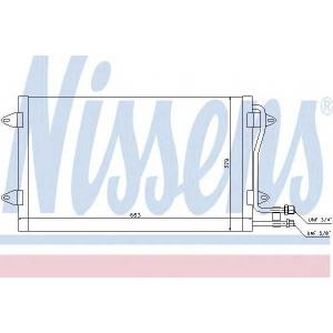NISSENS 94258 Конденсер VW LT(96-)2.3 i(+)[OE 2D0.820.413 A]
