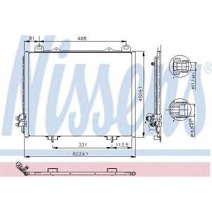 �����������, ����������� 94285 nissens - MERCEDES-BENZ E-CLASS (W210) ����� E 220 D (210.004)