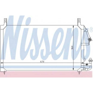 Конденсатор, кондиционер 94424 nissens - DAEWOO ESPERO (KLEJ) седан 1.5 16V