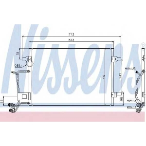 Конденсатор, кондиционер 94593 nissens - AUDI A6 (4B, C5) седан 1.8 T