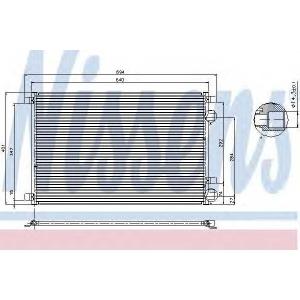 Конденсатор, кондиционер 94626 nissens - RENAULT MEGANE II седан (LM0/1_) седан 1.6 Hi-Flex