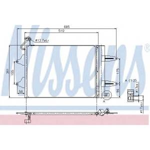 Конденсатор, кондиционер 94628 nissens - SKODA FABIA Наклонная задняя часть 1.2 12V