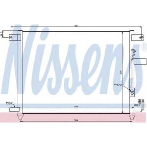 Конденсатор, кондиционер 94641 nissens - DAEWOO KALOS (KLAS) Наклонная задняя часть 1.4