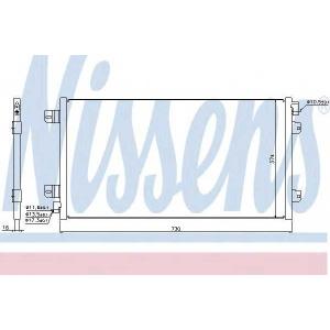Конденсатор, кондиционер 94659 nissens - OPEL MOVANO самосвал (H9) самосвал 2.5 DTI