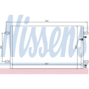 Конденсатор, кондиционер 94695 nissens - AUDI A6 (4F2, C6) седан 3.0 TFSI quattro