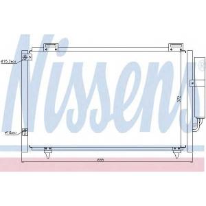 NISSENS 94719 Конденсер кондиціонера