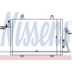 Конденсатор, кондиционер 94726 nissens - DACIA LOGAN пикап (US_) пикап 1.4