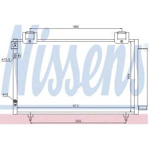 Конденсатор, кондиционер 94730 nissens - TOYOTA AVENSIS универсал (T25) универсал 2.0 VVTi