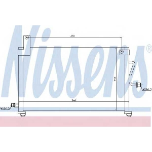 Конденсатор, кондиционер 94751 nissens - DAEWOO MATIZ (KLYA) Наклонная задняя часть 0.8