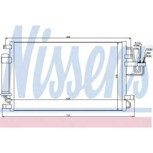 94801 nissens Конденсатор, кондиционер KIA SPORTAGE вездеход закрытый 2.0 CRDi 4WD