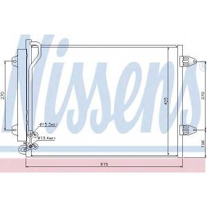 Конденсатор, кондиционер 94831 nissens - VW PASSAT (362) седан 1.6 TDI