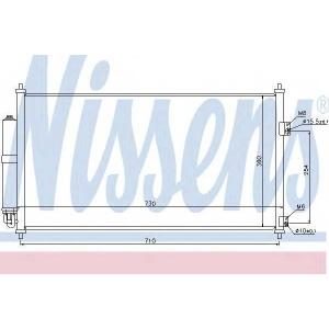 Конденсатор, кондиционер 94893 nissens - NISSAN X-TRAIL (T30) вездеход закрытый 2.5 FWD