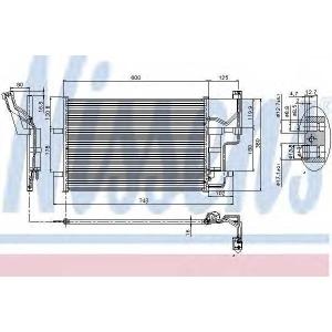 Конденсатор, кондиционер 94902 nissens - MAZDA 3 (BK) Наклонная задняя часть 1.4