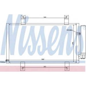 NISSENS 94934 Конденсер кондиціонера