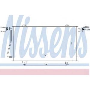 NISSENS 94989 Конденсер кондиціонера