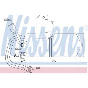 Осушитель, кондиционер 95317 nissens - FORD FIESTA V (JH_, JD_) Наклонная задняя часть 1.6