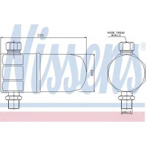 Осушитель, кондиционер 95324 nissens - AUDI A4 (8D2, B5) седан 1.6