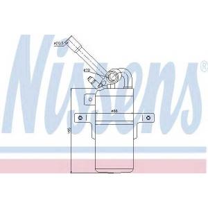 Осушитель, кондиционер 95331 nissens - FORD TRANSIT CONNECT (P65_, P70_, P80_) фургон 1.8 16V LPG