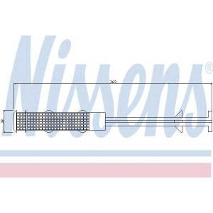 Осушитель, кондиционер 95357 nissens - MERCEDES-BENZ C-CLASS T-Model (S203) универсал C 220 CDI