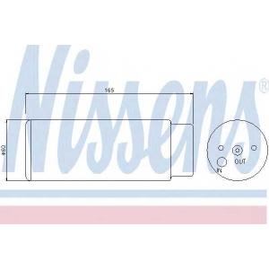 Осушитель, кондиционер 95380 nissens - MERCEDES-BENZ M-CLASS (W163) вездеход закрытый ML 320 (163.154)
