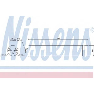 Осушитель, кондиционер 95383 nissens - NISSAN X-TRAIL (T30) вездеход закрытый 2.5 FWD